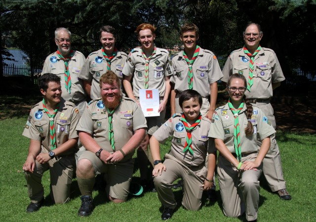 Springbok with Troop members